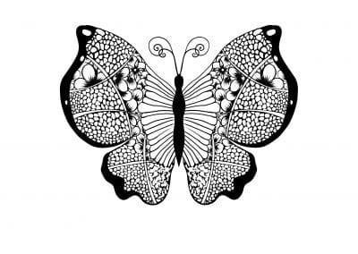 Принт бабочка