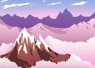 Горный пейзаж (вектор)