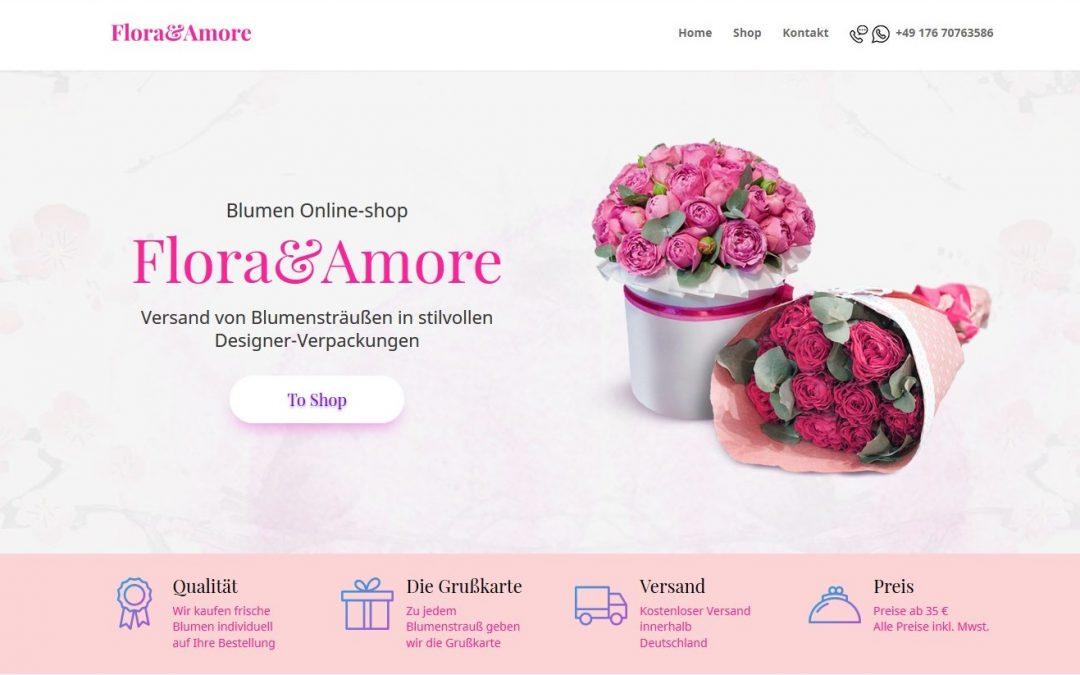 Лендинг продающий цветы в Германии